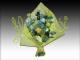 Ramo 12 rosas blancas/amarillas