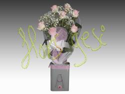 Ramo de 7 rosas rosa