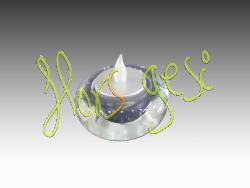 Base cristal + vela led