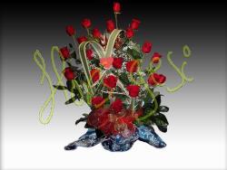 Centro 25 rosas